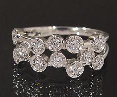 K18 ダイヤモンド 0.36ct リング送料無料 指輪 18K 18金 ゴールド ダイアモンド 誕生日 4月誕生石 刻印 文字入れ ピンキーリング メッセージ ギフト 贈り物