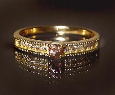 【GWクーポン配布中】【1点限り】リング カラーチェンジガーネット ダイヤモンド ゴールド K18