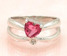 【1点限り】K18WG ピンクトルマリン 0.66ct ダイヤモンド リング