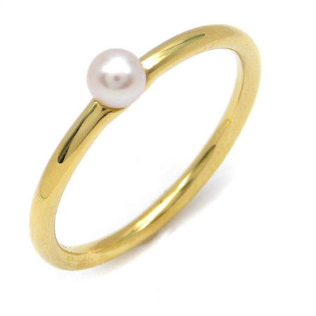 K18 パール ターコイズ コーディネート リング 「cupolino」 指輪 ゴールド 18K 18金 真珠 トルコ石 誕生日 6月誕生石 12月誕生石 刻印 文字入れ メッセージ ギフト 贈り物 ピンキーリング対応可能
