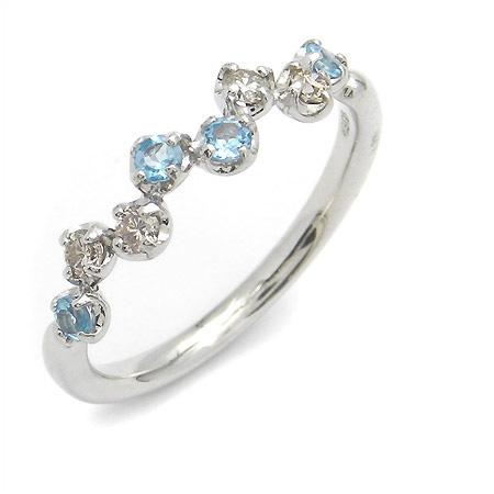 K18 ダイヤモンド ブルートパーズ リング「stellato」 指輪 ゴールド 18K 18金 ダイアモンド 誕生日 11月誕生石 刻印 文字入れ メッセージ ギフト 贈り物 ピンキーリング対応可能