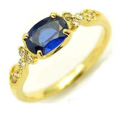 【GWクーポン配布中】K18 カイヤナイト ダイヤモンド リング 「amanza」送料無料 指輪 ゴールド 18K 18金 カイアナイト ダイアモンド 刻印 文字入れ メッセージ ギフト 贈り物 ピンキーリング対応可能