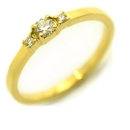 K18 ダイヤモンド リング 「genuino」 指輪 ゴールド 18K 18金 ダイアモンド 誕生日 4月誕生石 刻印 文字入れ メッセージ ギフト 贈り物 ピンキーリング対応可能