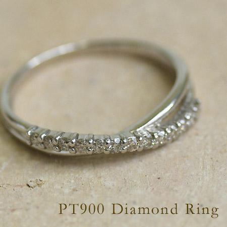 【GWクーポン配布中】PT900 ダイヤモンド リング送料無料 指輪 ダイアモンド プラチナ900 誕生日 4月誕生石 結婚記念日 刻印 文字入れ ギフト 贈り物 ピンキーリング対応可能