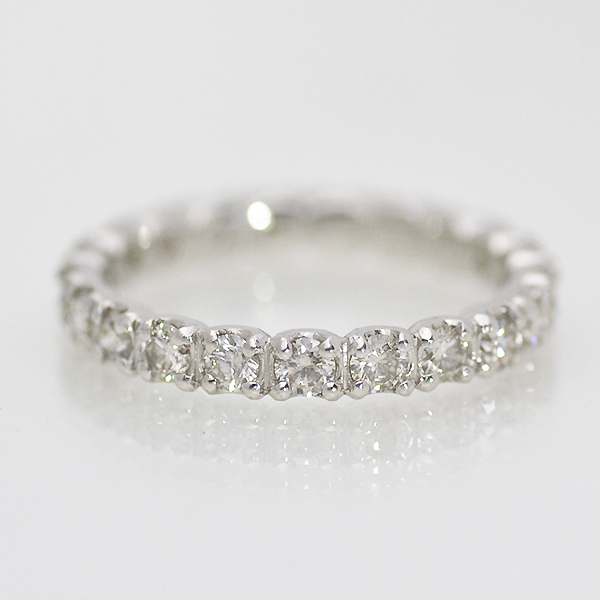 """the price of 1 ct! Our popular No.1 ring ""PT900 diamond FL eternity ring"
