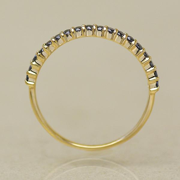 K18 ブラックダイヤモンド 0.25ct エタニティリング 「fila」 指輪 ゴールド 18K 18金 ダイアモンド エタニティー 誕生日 4月誕生石 メッセージ ギフト 贈り物 ピンキーリング対応可能