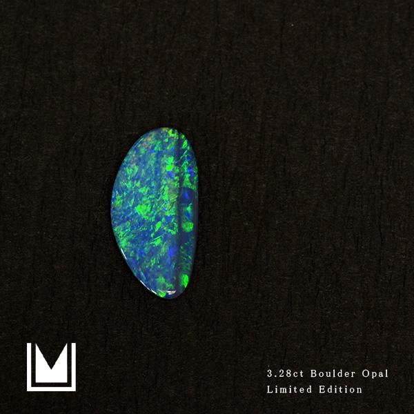【1点限り】ルース 天然石 ボルダーオパール 3.27ct オーストラリア産 送料無料