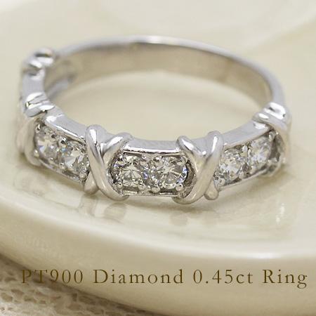 リング ダイヤモンド 0.45カラット プラチナ900 送料無料