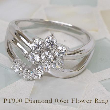 リング ダイヤモンド 0.6カラット プラチナ900 送料無料