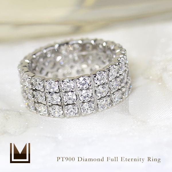 【GWクーポン配布中】フルエタニティーリング ダイヤモンド 3カラット プラチナ900 送料無料