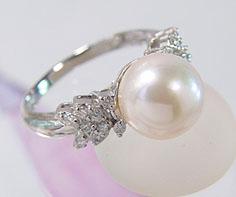 リング パール ダイヤモンド プラチナ900