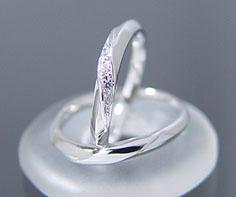 K18WG Lady's & Men's wedding rings (wedding ring) (MS0014)