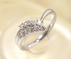 リング ダイヤモンド プラチナ900