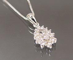 【GWクーポン配布中】ペンダント ダイヤモンド プラチナ900 ベネチアンチェーン 送料無料