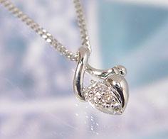 【GWクーポン配布中】ペンダント ダイヤモンド シルバー925 キヘイチェーン 送料無料
