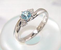 【GWクーポン配布中】リング サンタマリアアクアマリン ダイヤモンド プラチナ900 送料無料