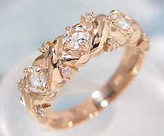 リング ホワイトトパーズ ダイヤモンド ゴールド K10
