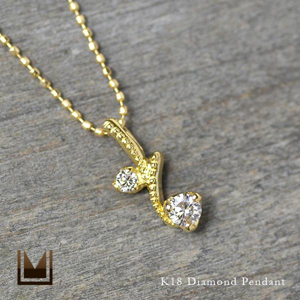 K18 ダイヤモンド ペンダントトップ送料無料 ネックレス ダイアモンド 蔓 誕生日 4月誕生石 18K 18金 ゴールド 記念日 メッセージ ギフト 贈り物
