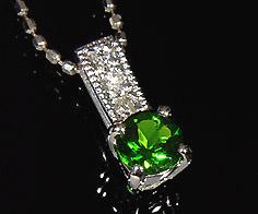 ペンダントトップ クロムダイオプサイト ダイヤモンド 「fiorito」 ゴールド K18 送料無料