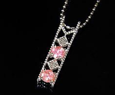 【GWクーポン配布中】ペンダントトップ ロードクロサイト ダイヤモンド 「blonda」 プラチナ900 送料無料
