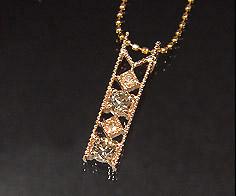【GWクーポン配布中】K18 ブラウンダイヤモンド ダイヤモンド ペンダントトップ 「blonda」ネックレス 送料無料 18K 18金 ゴールド ダイアモンド ミル打ち 誕生日 4月誕生石 記念日 メッセージ ギフト 贈り物