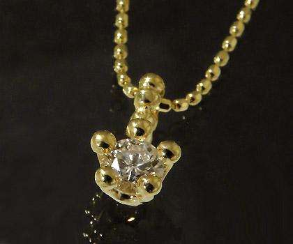 K18 ダイヤモンド 0.15ct ペンダントトップ 「face」 ネックレス ダイアモンド 誕生日 4月誕生石 18K 18金 ゴールド 記念日 メッセージ ギフト 贈り物