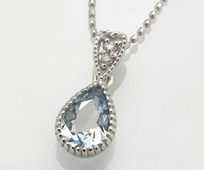 【GWクーポン配布中】K18 アクアマリン ダイヤモンド ペンダントトップ 「pianto」送料無料 ネックレス アクワマリン ダイアモンド 誕生日 3月誕生石 18K 18金 ゴールド 記念日 メッセージ ギフト 贈り物