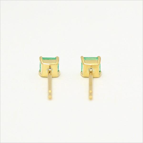 スタッドピアス エメラルド 約0.2ct ゴールド K18