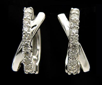 ピアリング ダイヤモンド 0.20カラット ホワイトゴールド K14