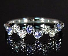 K18 ダイヤモンド タンザナイト リング 「stellato」送料無料 指輪 ゴールド 18K 18金 ブルーゾイサイト ダイアモンド 誕生日 12月誕生石 刻印 文字入れ メッセージ ギフト 贈り物 ピンキーリング対応可能