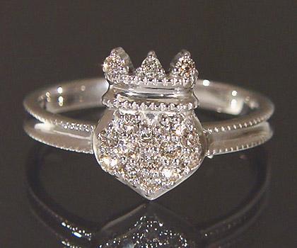 【GWクーポン配布中】K18 ダイヤモンド ハート リング 「tenero」送料無料 指輪 18K 18金 ゴールド 王冠 ティアラ ダイアモンド 4月誕生石 誕生日 文字入れ 刻印 ピンキーリング対応可能 メッセージ ギフト 贈り物