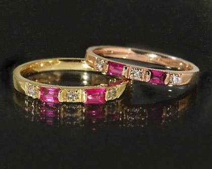 【GWクーポン配布中】K18 ルビー ダイヤモンド リング 「peregrino」送料無料 指輪 18K 18金 ゴールド ダイアモンド 7月誕生石 誕生日 文字入れ 刻印 ピンキーリング対応可能 メッセージ ギフト 贈り物