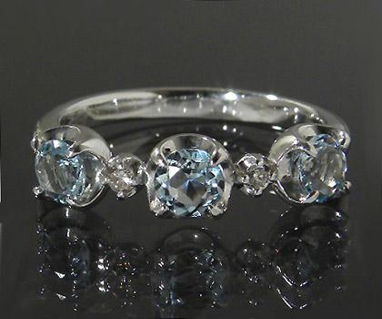 K10 アクアマリン ダイヤモンド リング 「attore」送料無料 指輪 10K 10金 ゴールド アクワマリン ダイアモンド 3月誕生石 誕生日 文字入れ 刻印 ピンキーリング対応可能 メッセージ ギフト 贈り物