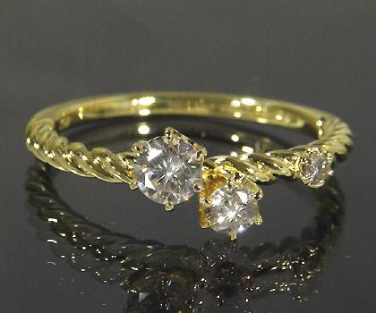 【GWクーポン配布中】K18 ダイヤモンド リング 「galassia」送料無料 指輪 18K 18金 ゴールド ダイアモンド 4月誕生石 誕生日 文字入れ 刻印 ピンキーリング対応可能 メッセージ ギフト 贈り物