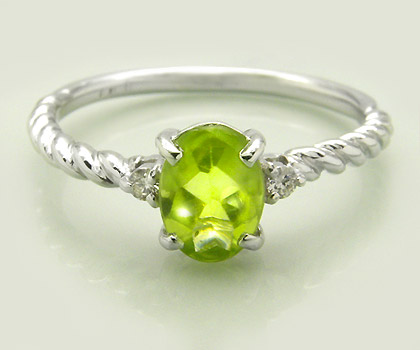 K18 ペリドット ダイヤモンド リング 「gelatina」送料無料 指輪 18K 18金 ゴールド ダイアモンド バフトップ 誕生日 8月誕生石 文字入れ 刻印 ピンキーリング対応可能 メッセージ ギフト 贈り物
