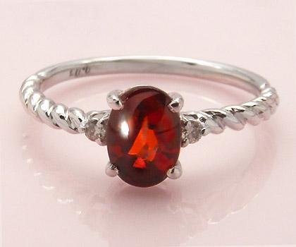 K18 ガーネット ダイヤモンド リング 「gelatina」 指輪 18K 18金 ゴールド ダイアモンド バフトップ 誕生日 1月誕生石 文字入れ 刻印 ピンキーリング対応可能 メッセージ ギフト 贈り物