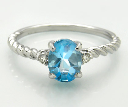 K18 ブルートパーズ ダイヤモンド リング 「gelatina」送料無料 指輪 18K 18金 ゴールド ダイアモンド バフトップ 誕生日 11月誕生石 文字入れ 刻印 ピンキーリング対応可能 メッセージ ギフト 贈り物