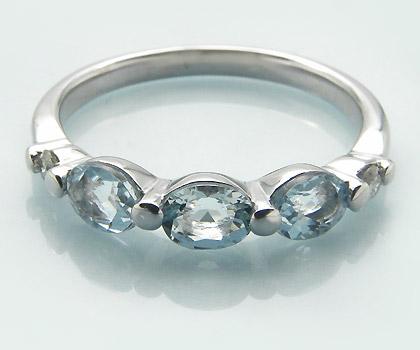 K18 アクアマリン ダイヤモンド リング 「desto」送料無料 指輪 18K 18金 ゴールド アクワマリン ダイアモンド 誕生日 3月誕生石 文字入れ 刻印 ピンキーリング対応可能 メッセージ ギフト 贈り物