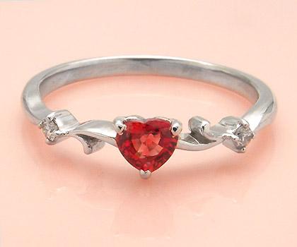 K18 オレンジサファイア ダイヤモンド リング 「arzente」 指輪 18K 18金 ゴールド サファイヤ ダイアモンド 誕生日 9月誕生石 文字入れ 刻印 ピンキーリング対応可能 メッセージ ギフト 贈り物