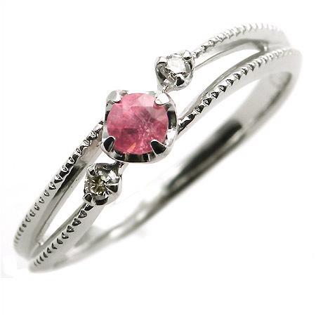 【GWクーポン配布中】PT900 ロードクロサイト ダイヤモンド リング 「cresta」送料無料 指輪 プラチナ900 ダイアモンド 刻印 文字入れ メッセージ ギフト 贈り物 ピンキーリング対応可能