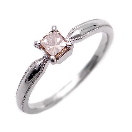 【GWクーポン配布中】K18 プリンセスカットブラウンダイヤモンド 0.33ct リング 「nastro」送料無料 指輪 ゴールド 18K 18金 ダイアモンド 誕生日 4月誕生石 刻印 文字入れ メッセージ ギフト 贈り物 ピンキーリング対応可能