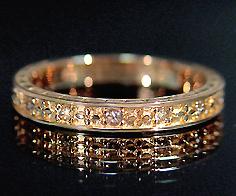 K18 ブラウンダイヤモンド リング 「aulente」 指輪 ダイアモンド ゴールド 18K 18金 金木犀 花 誕生日 4月誕生石 刻印 文字入れ メッセージ ギフト 贈り物 ピンキーリング対応可能