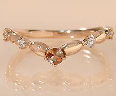 K18 アンダルサイト ダイヤモンド リング 「tempista」送料無料 指輪 ゴールド 18K 18金 ダイアモンド 刻印 文字入れ メッセージ ギフト 贈り物 ピンキーリング対応可能