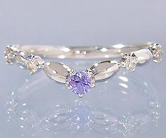 K18 タンザナイト ダイヤモンド リング 「tempista」 指輪 ゴールド 18K 18金 ダイアモンド ブルーゾイサイト 誕生日 12月誕生石 刻印 文字入れ メッセージ ギフト 贈り物 ピンキーリング対応可能