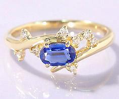 【GWクーポン配布中】K18 カイヤナイト ダイヤモンド リング 「spumare」送料無料 指輪 ゴールド 18K 18金 ダイアモンド 刻印 文字入れ メッセージ ギフト 贈り物 ピンキーリング対応可能