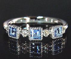 【GWクーポン配布中】K18 ブルートパーズ ダイヤモンド リング 「altero」送料無料 指輪 ダイアモンド ゴールド 18K 18金 ミル打ち 誕生日 11月誕生石 刻印 文字入れ メッセージ ギフト 贈り物 ピンキーリング対応可能