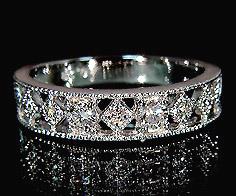 K18 ダイヤモンド リング 「blonda」 指輪 ダイアモンド ゴールド 18K 18金 ミル打ち 誕生日 4月誕生石 刻印 文字入れ メッセージ ギフト 贈り物 ピンキーリング対応可能