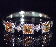 【GWクーポン配布中】K18 オレンジサファイア ダイヤモンドリング 「altero」送料無料 指輪 サファイヤ ダイアモンド ゴールド 18K 18金 ミル打ち 誕生日 9月誕生石 刻印 文字入れ メッセージ ギフト 贈り物 ピンキーリング対応可能