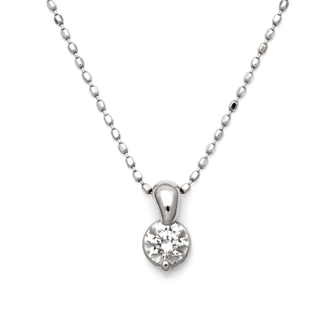 【GWクーポン配布中】ペンダント ダイヤモンド 0.2カラット ゴールド K18 K18 カットボールチェーン 送料無料