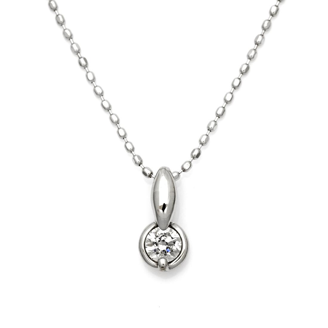 【GWクーポン配布中】ペンダントトップ ダイヤモンド 0.1カラット プラチナ900 送料無料